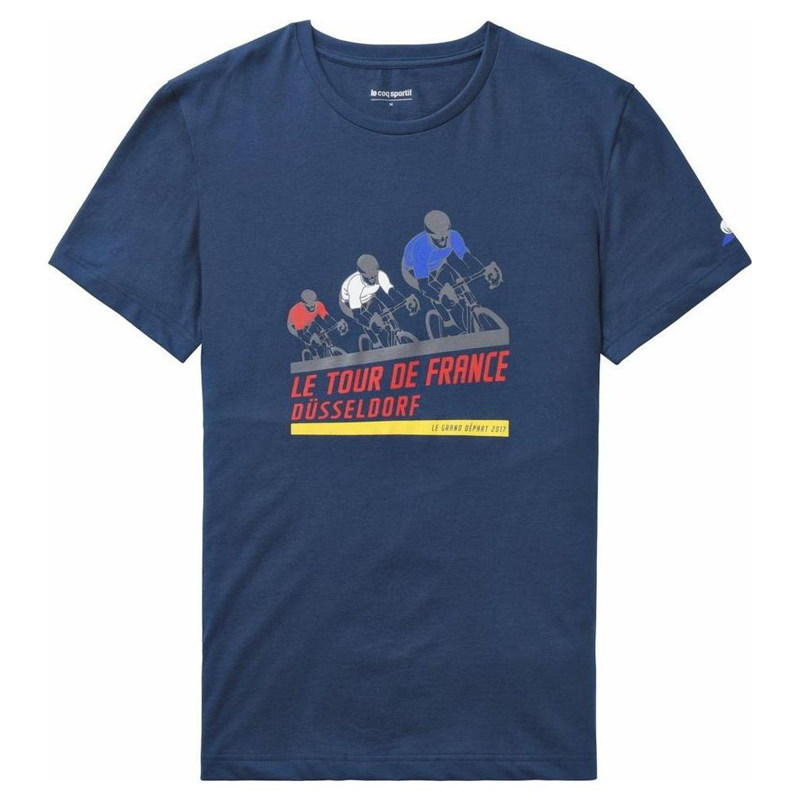 Le Coq TDF 2017  Fanwear No1 Casual T-Shirt bluee  brand outlet